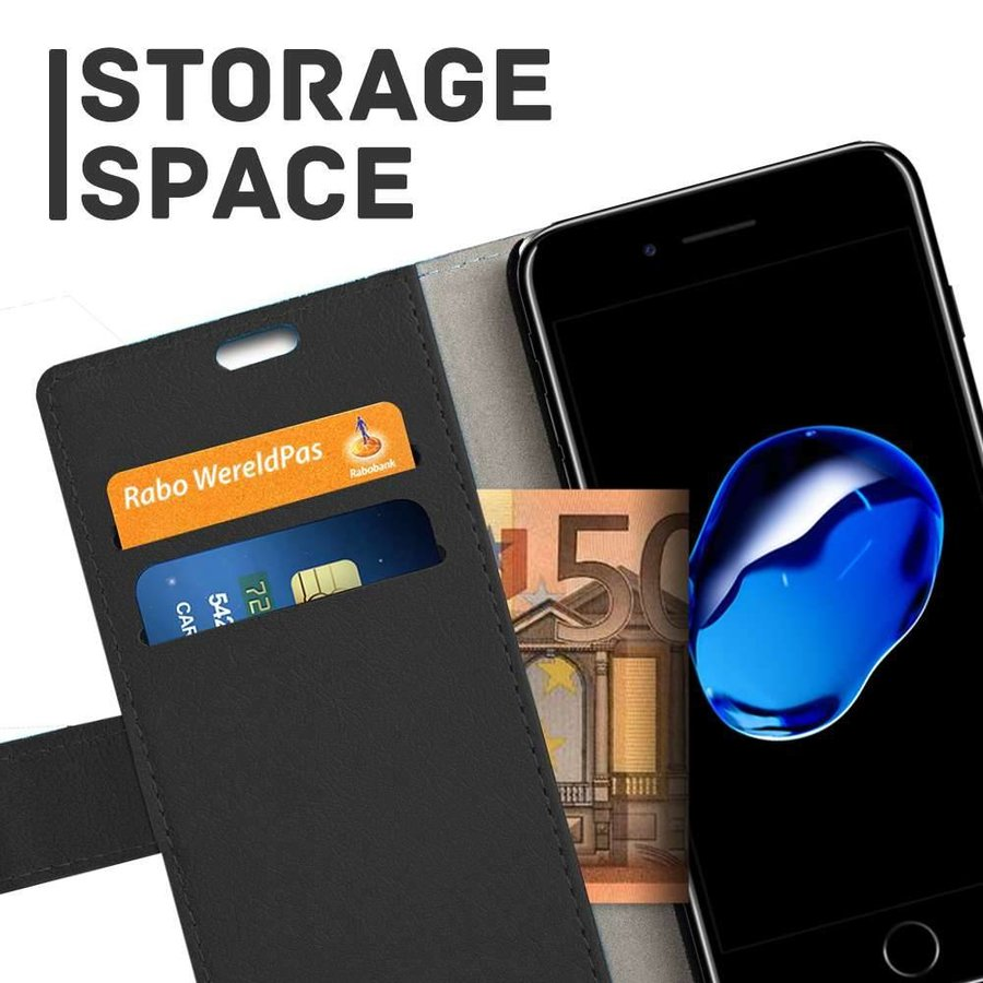 Just in Case Bookcase Zwart voor iPhone 7/8 Plus