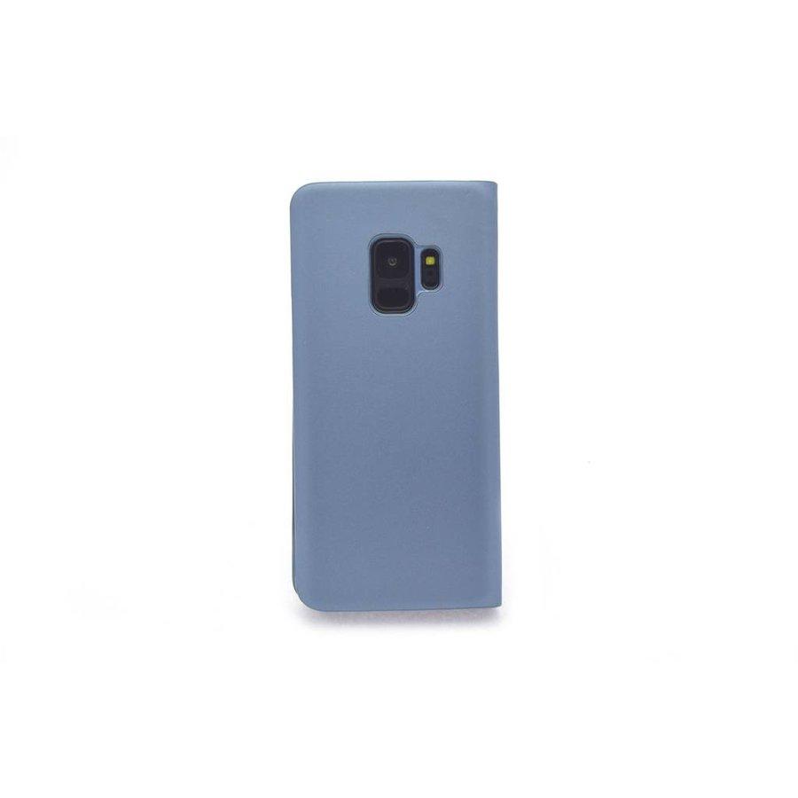 TPU Bookcase Voor Samsung Galaxy S9 (Blauw)
