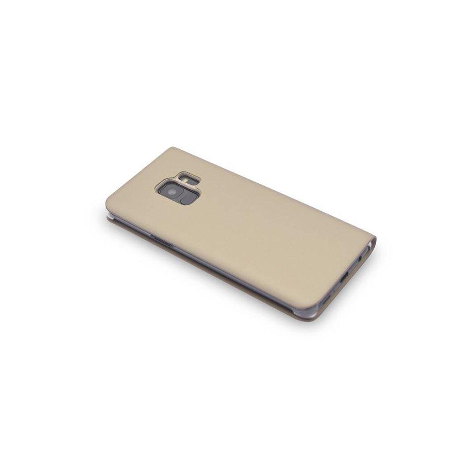 TPU Bookcase Voor Samsung Galaxy S9 (Goud)