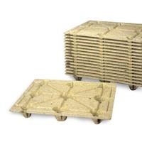 Demi-palette bois moulée F10, légère 1200 x 1000 mm