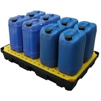 Bac de rétention en plastique 1200x800x175mm - avec caillebotis