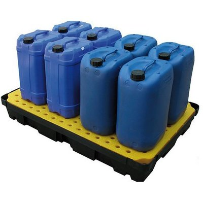 Bac de rétention 1200x800x175mm - avec caillebotis - contenu 100 L