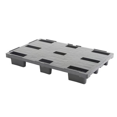 Palette de rétention plastique, emboitable 1140x760x155mm - plancher plein