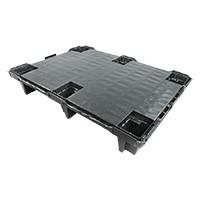 Palette plastique légère  800x600x130mm - plancher plein