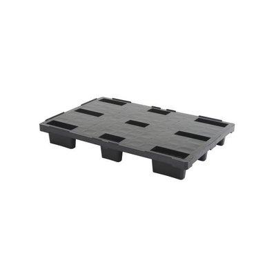 Palette plastique export, légère, empilable 1200x800x155mm