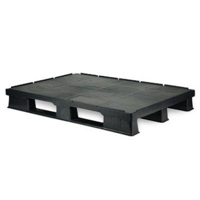 Palette plastique, plancher plein 1200x800x150mm - rebords de sécurité
