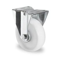 Roulette 100mm de diamètre - PA blanc