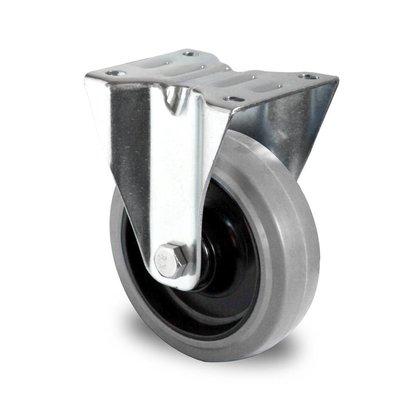 Roulette 125mm de diamètre avec roulement à bille - PA / Caoutchouc