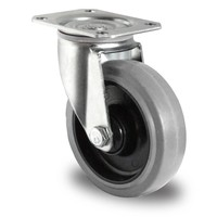 Roulette pivotante 125 mm de diamètre avec roulement à billes - PA / caoutchouc