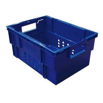 Bac plastique - 400x300mm - couleur bleu - ajouré