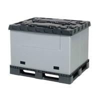 Caisse palette industrielle pliable en plastique, 1227x1027x965mm