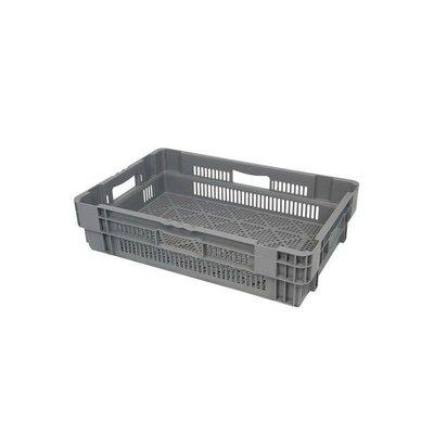 Bac plastique empilable 600x400x144mm - ajouré - 26 litres