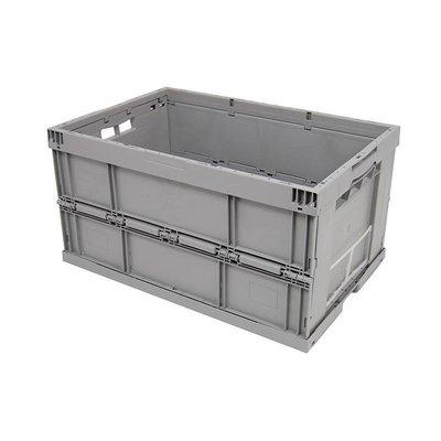 Bac plastique pliable 600x400x320mm - empilable et ouvert