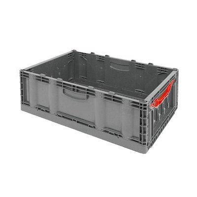 Bac plastique pliable 600x400x221mm - empilable fond et parois latérales