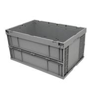 Bac plastique pliable 600x400x314mm - empilable