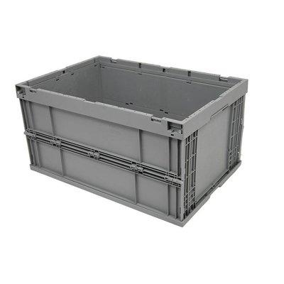 Bac plastique pliable 600x400x314mm - empilable fond et parois latérales