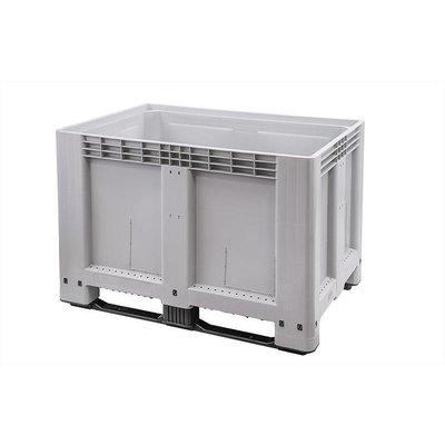 Caisse industrielle 1200x800x800mm - 2 semelles, empilable parois latérale et bas