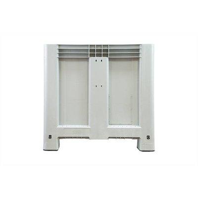 Caisse industrielle 1200x800x800mm - 4 semelles, empilable fond et parois latérales