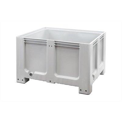 Caisse industrielle plastique 1200x1000x760mm - 4 semelles, empilable