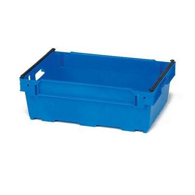 Bac plastique emboîtable avec barre amovible 600x400x300mm - empilable