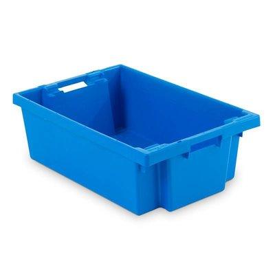 Bac plastique bleu emboîtable de dimensions 600x400x200mm