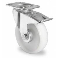 Roulette pivotante avec frein 125mm de diamètre - PA