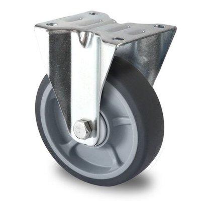 Roulette 125mm diamètre avec roulement à billes - PP /TPR