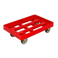 Chariot Dolly en plastique 610x410mm -grille empilable