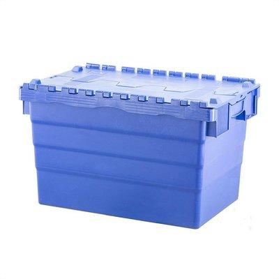 Bac plastique avec couvercle, empilable 600x400x365mm