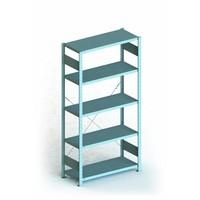Etagère 1000x500x2000mm 5 niveaux en métal galvanisé