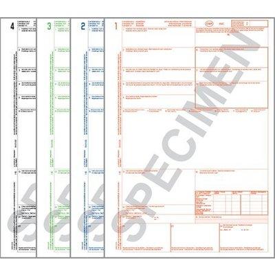 CMR factures de chargement 1234 non numéroté