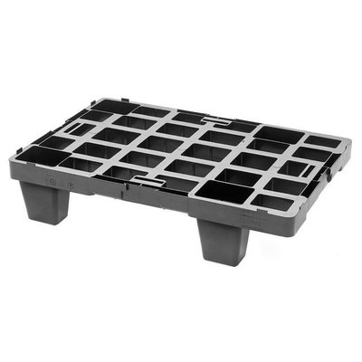 Kunststoffpalette, 4 Füße, nestbar, offenes Deck, 600x400x140mm