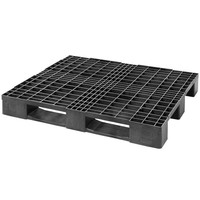 Kunststoffpalette, 3 Kufen, offenes Deck, 1200x1000x150mm