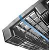 Kunststoffpalette, schwer, 3 Kufen, Hochregallager, offenes Deck, 1200x1000x160mm