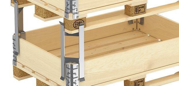 paletten abstandhalter aus metall f r aufsatzrahmen sehr stabil. Black Bedroom Furniture Sets. Home Design Ideas