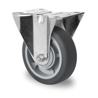 Bockrolle, 100mm Durchmesser, Kugellager, PP / TPR
