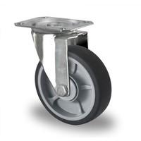 Lenkrolle, 125mm Durchmesser, Kugellager, PP / TPR