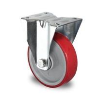 Bockrolle, 100mm Durchmesser, Kugellager, PA / PU