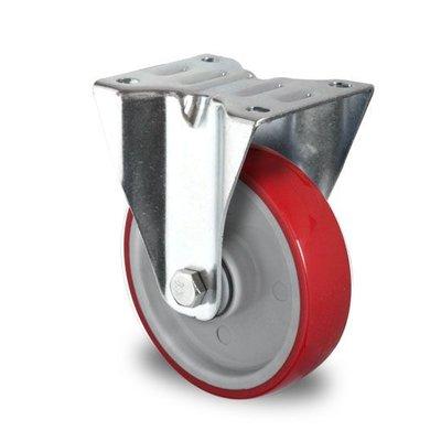 Bockrolle mit Kugellager für Rollbehälter, PA / PU, 125mm Durchmesser