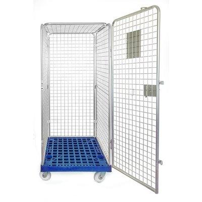 Rollbehälter Anti-Diebstahl, Kunststoffboden, 810x720x1800mm