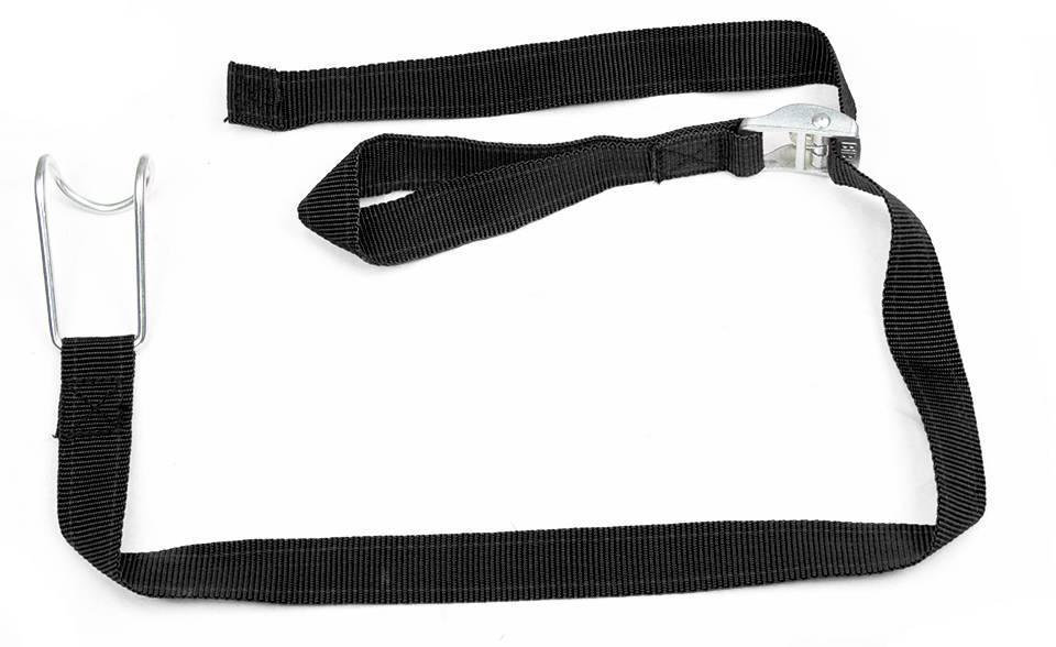 Spannband aus Textil für Rollbehälter | 1 Meter | Schwarz - Rotomshop.de