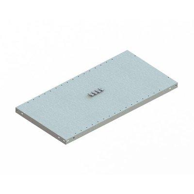 Fachboden für Metallregal, verzinkt, 1000x500x40mm