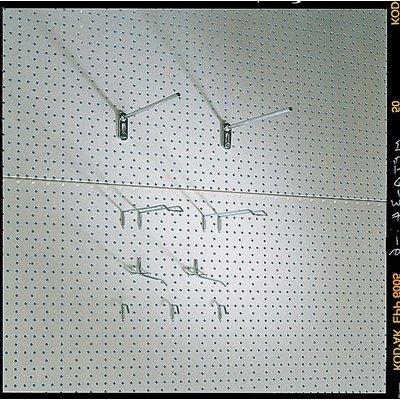 Rückwand für Steckregal mit Eurolochung, verzinkt, 4,5mm Durchmesser