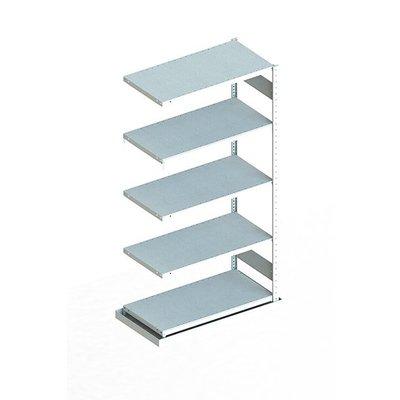 Anbauregal für Metallregal mit Auffangwanne, verzinkt, 1000x500x2000mm
