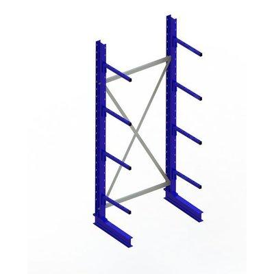 Kragarmregal, einseitig, lackierter Stahl, mit 4 Kragarmen, 1000x500x2500mm