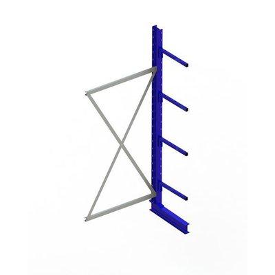 Anbaufeld für Kragarmregal, einseitig, lackierter Stahl, mit 4 Kragarmen, 1000x500x2500mm