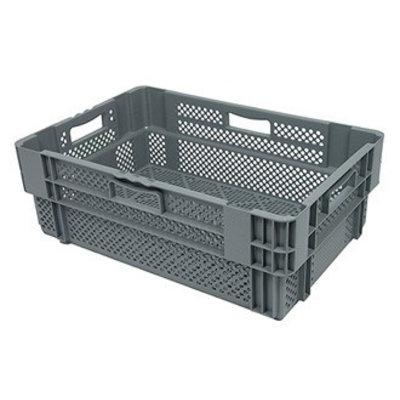 Drehstapelbehälter, durchbrochen, Euronorm, 47 Liter, nestbar, 600x400x245mm