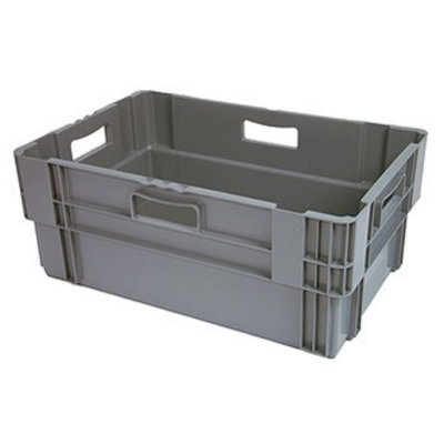Drehstapelbehälter, geschlossen, Euronorm, 60 Liter, nestbar, 600x400x320mm