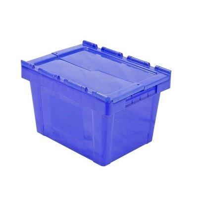 Kunststoffbehälter, 25 l, stapelbar, nestbar, Klappdeckel, 400x300x260mm