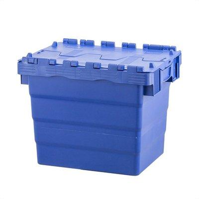 Kunststoffbehälter, 27 l, stapelbar, nestbar, Klappdeckel, 400x300x320mm